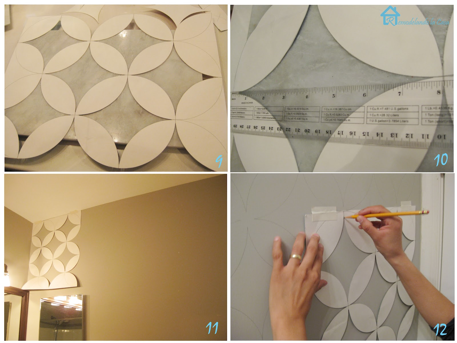 Painted geometric wall remodelando la casa - Geometric wall designs with paint ...