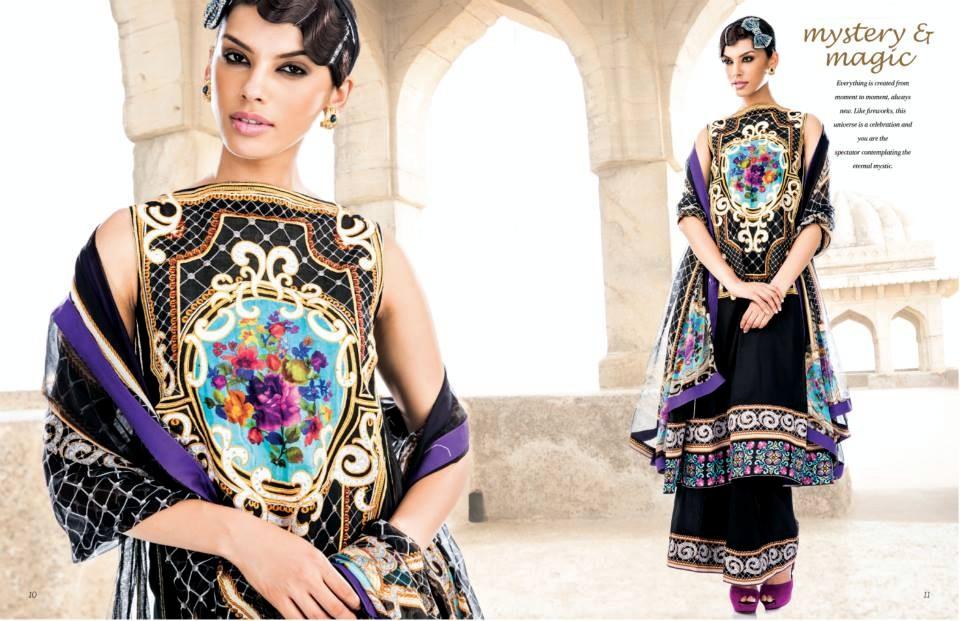 Five Star Vogue Digital Embroidered Eid Collection 2014/15 ... |Five Star Lawn Eid Collection