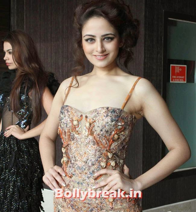 Zoya Afroz, Miss India Winners & contestants at Miss India 2014 Crown Unveiling