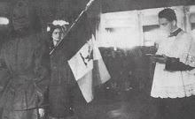 la benedizione della bandiera di un Reparto di Ausiliarie