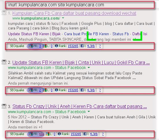 Cara mudah mencari Inner Page Web untuk Backlink