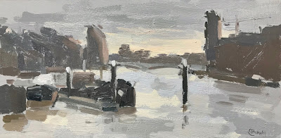 #257 'View from Battersea' 5×10″