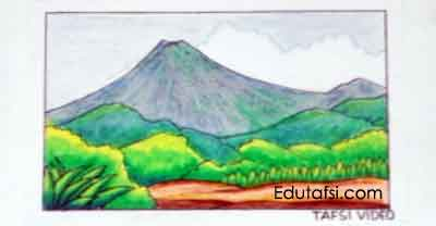 Tutorial menggambar pemandangan gunung