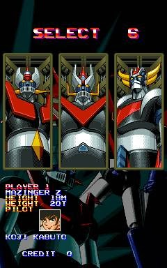 Mazinger Z+arcade+game+portable+shoot'em up+select players