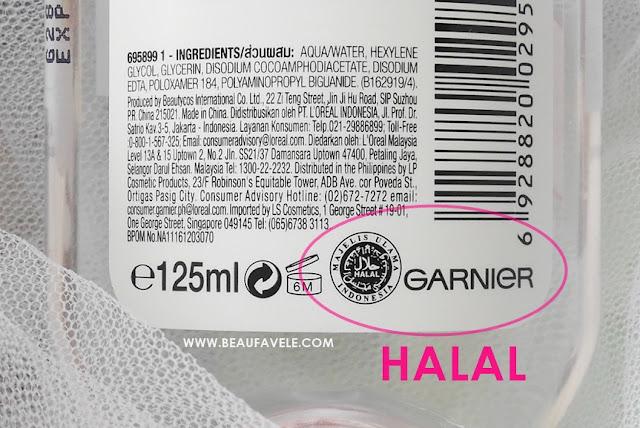 kandungan isi Garnier Micellar Water halal