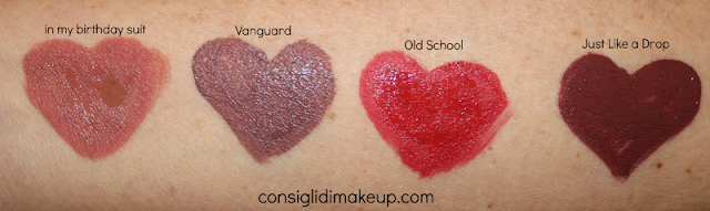 Review Velvet Ink Mulac Cosmetics  colorazione, swatches in my birthday suit vanguard old school just like a drop