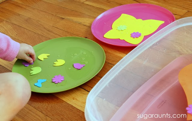 Sensory and fine motor play perfect for Spring!