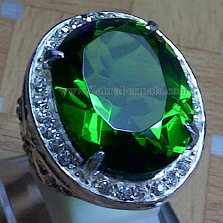 Cincin Batu Permata Green Tektite - ZP 952