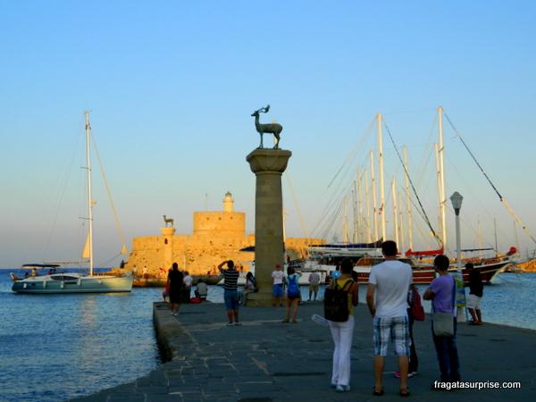 Porto de Mandráki, Rodes, Dodecaneso, Grécia