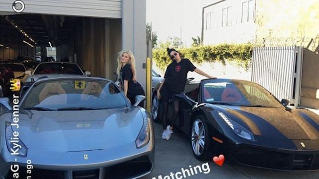 Kendall & Kylie Jenner Show off Ferrari Supercar Twins