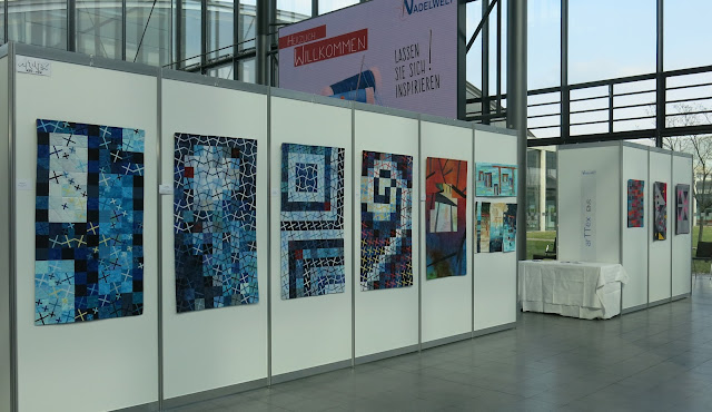 art-tex exhibition at Nadelwelt Karlsruhe 2018 - Quilts by Marianne Bender-Chevalley and Patricia Fuentes