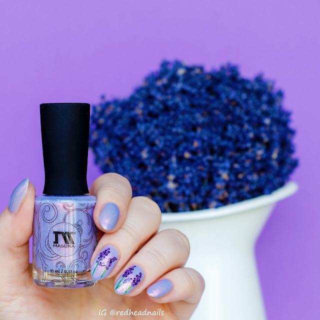 Lavender hand painted nail art