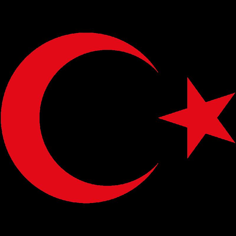 Logo Gambar Lambang Simbol Negara Turki PNG JPG ukuran 800 px