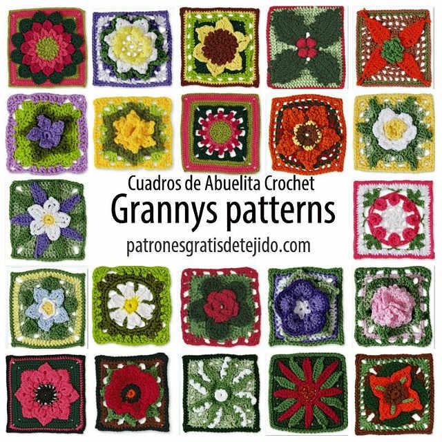 20 Patrones de los mejores Grannys de la web / libro pdf | Crochet y ...