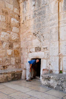 Wayne Entering the Door of Humility - Bethlehem, Palestinian Authority (PA)