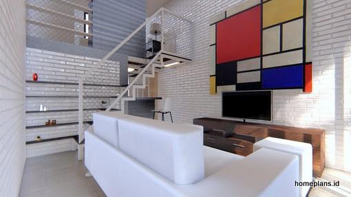 Desain Rumah Detil Produk Desain Rumah Micro 3 5x10 M2 Kode 111 By Homeplans Id