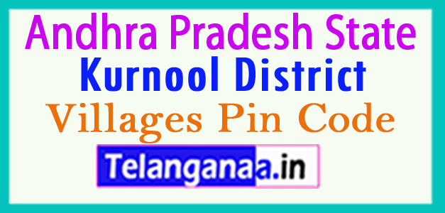 Kurnool District Pin Codes in Andhra Pradesh State