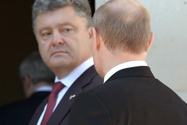 Resultado de imagem para putin poroshenko rússia war