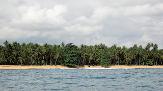 Rolas Island is 10 minutes by canoe