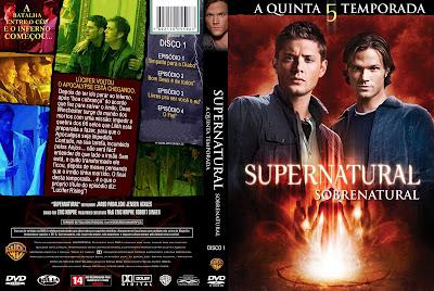 Sobrenatural 5º Temporada DVD Capa