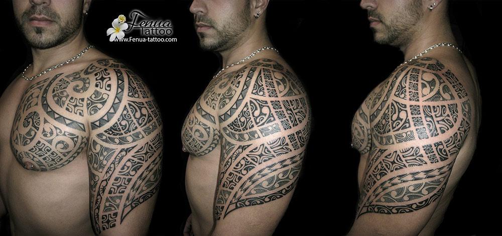 Tatouage Polynesien Bras Epaule Tahiti Tattoo Specialiste Du