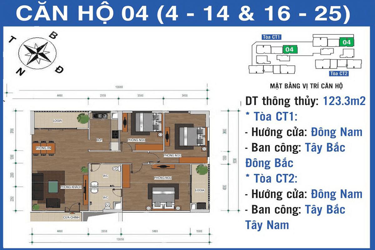 Căn 04 dự án Ban Cơ Yếu Chính Phủ Lê Văn Lương