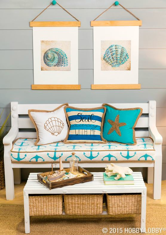 DIY Coastal Poster Idea with Wood Planks