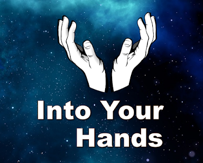 Hands reaching for the universe