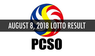 PCSO Lotto Swertres EZ2 Result Today August 8, 2018 - PCSO