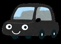 車のキャラクターのイラスト(黒)