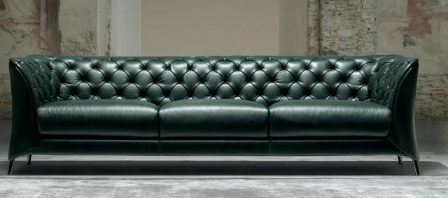 Elegant Black Leather Sofa