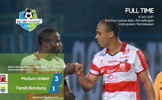Madura United Kalahkan Persib Bandung 3-1 #Liga1