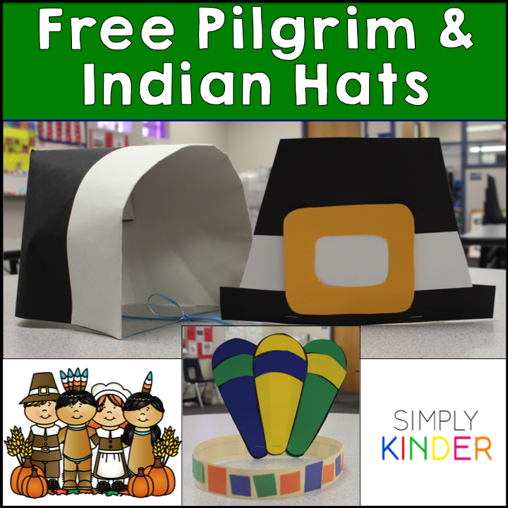 indian hat template - freebielicious pilgrim and indian hat freebie