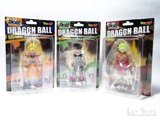 Shodo Dragon Ball figurines · SS Goku - Bardock - SS Broly