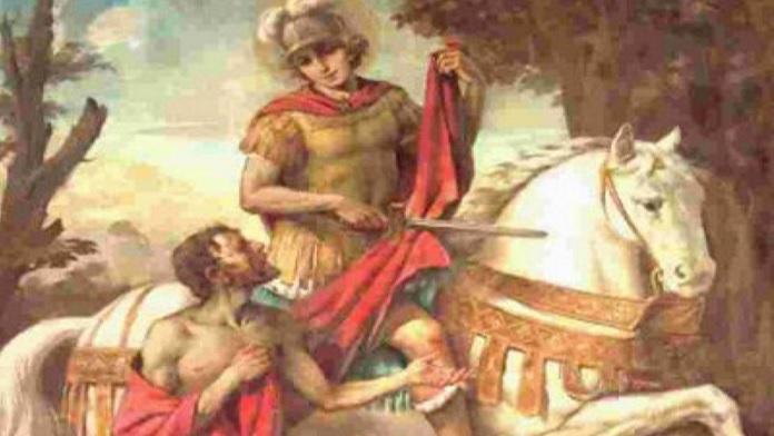 San Martino e il dono del mantello