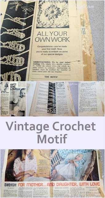 1970's Crochet motif with project patterns
