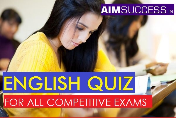 English Questions for SSC CHSL 2018