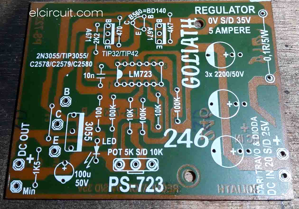 lm723 adjustable power supply with over