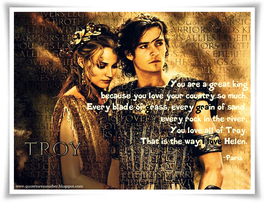 Cross Country Quotes >> #Troy #Paris #Helen #OrlandoBloom #DianeKruger