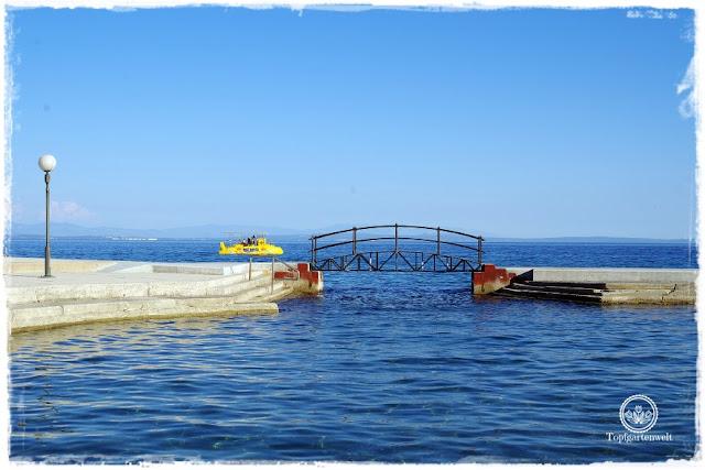 Gartenblog Topfgartenwelt Kroatien: Wasserbecken in Opatija