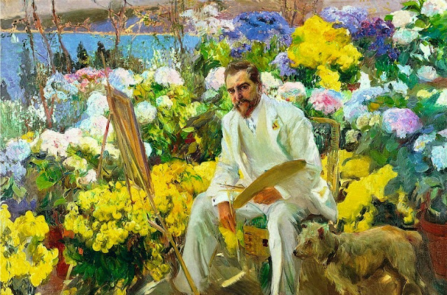 Joaquin Sorolla, Louis Comfort Tiffany, 1911. Painting the Modern Garden: Monet to Matisse