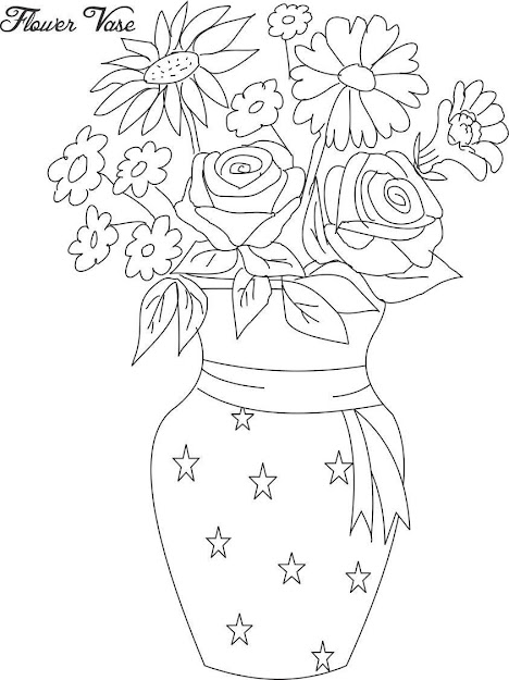 Drawing Simple Flower Pots Images With Colors Flower Pot Coloring Page Flower  Coloring Template