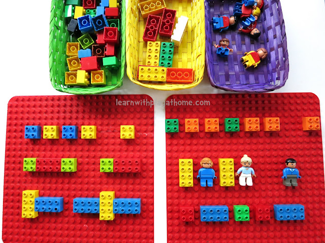 maths for kids, learning patterns, lego activity, lego learning, duplo learning, duplo activity