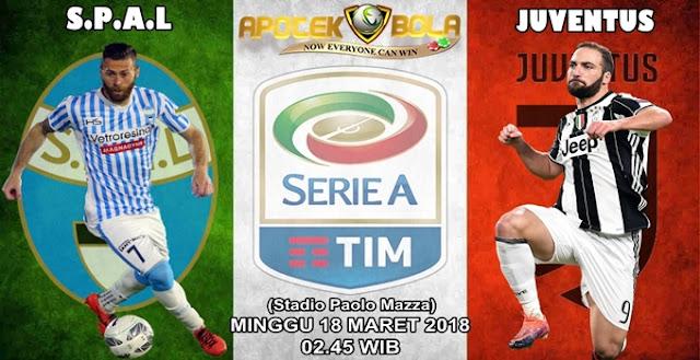 Prediksi SPAL 2013 vs Juventus 18 Maret 2018