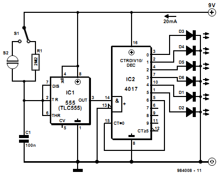 Led Sequencer Circuit in addition Series Resistor For 12v Led furthermore Labeled Diagram Of A Circuit Schematic additionally Radiowirri blogspot as well Light Emitting Capacitor. on led diode wiring diagram