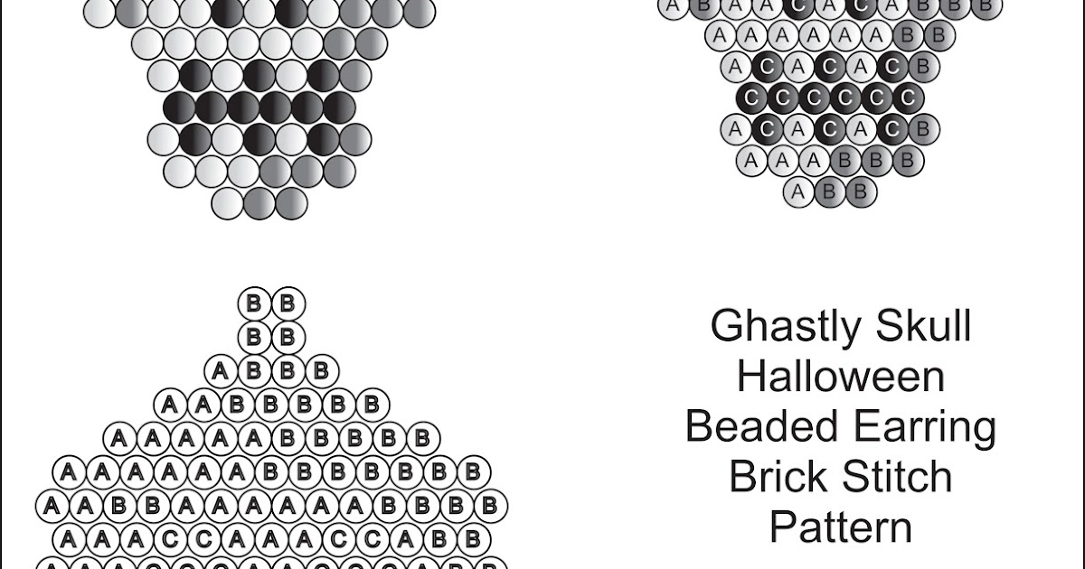 Brick Stitch Bead Patterns Journal: Ghastly Skull Free