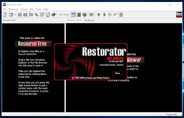 Restorator 2009 4.00 build 1807 full serial công cụ không thể thiếu với dân mod win
