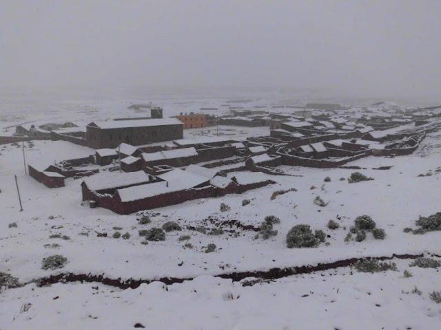 San Pablo de Lipez im Schnee
