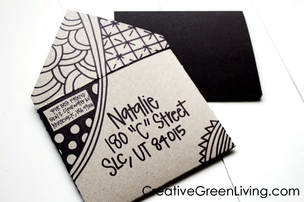 How to make an envelope for a card from a cereal box