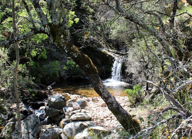 Salto de agua en la Hoz de Carboneros